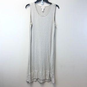 Chico's Dresses - Chico's Striped Midi Dress Size 2